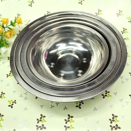 Wholesale Stainless Steel Food Container Wholesale - 16-22cm stainless steel soup bowl pots plate rice meal bowls daily household kitchen tableware whlesale food container