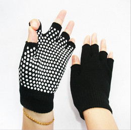 Wholesale Gloves For Wholesale Yellow - Slip Free Yoga Gloves with Slilicon Nubs For Women