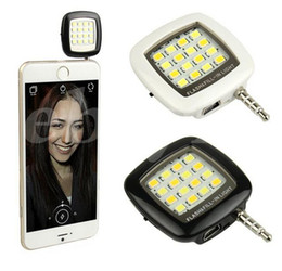 Wholesale Pocket Led Flash Lights - Portable Mini 16 Leds Lamp LED Flash IBlazr Dimmable Fill-IN Light Pocket Spotlight For iPhone IOS Android Smartphone Camera Universal