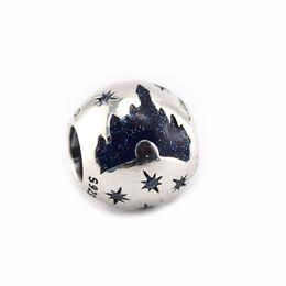 2019 schloss sterling charme New Fit Armbänder Armreifen Blue Dream Castle Charm Frau DIY Original 925 Sterling Silber Perlen Für Schmuck Machen Zubehör rabatt schloss sterling charme
