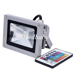 Wholesale Project Blue - IP65 Waterproof 10W RGB Flood Outdoor Project Lamp LED Power Floodlight Waterprood Led Project Led Light RGB Led Floodlight