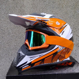 Wholesale Helmet Size Xl - 2015 Newest DOT certification KTM OFF Road motorcycle helmet Motorcross motorbike helmets Orange white color made of ABS size M L XL XXL