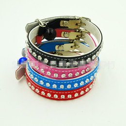 Wholesale Elastic Cat Collars - 21 with drill collar elastic cortex The teddy dog cat collar collar collar Small dogs TT21
