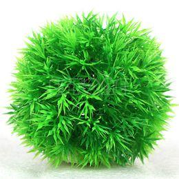 Canada Livraison gratuite Artificielle Aquatique Plantes Plantes Aquarium Herbe Ball Fish Tank Ornement Décor Offre