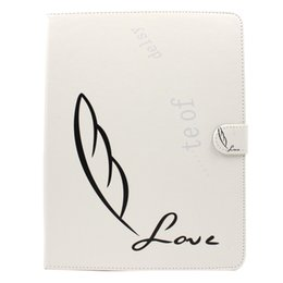Wholesale Iphone Simple Cover - Simple Love PU TPU Leather Shockproof Flip Case Cover for iPad 2 3 4 Tab 3 4 A S S2 free DHL