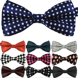 Wholesale Polka Dot Mens Tie - New Fashion Mens Womens Unisex Floral Leisure Polka Dot Stripes Print Bowtie Neckwear Bow Tie free shipping