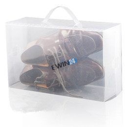Wholesale Clear Plastic Men s Women s Shoe Storage Boxes Containers Trainers Size PP Material