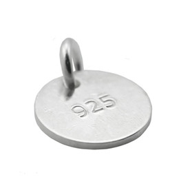 Wholesale Gauge Silver - Beadsnice 925 Sterling Silver Stamping Blanks Flat Round Blank Tag Charms for Bracelet Charms Pendant Wholesale 19 Gauge 6mm 12mm for Choose