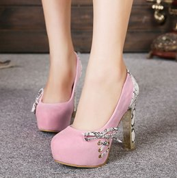 Wholesale Mary Jane High Heel Shoes - Bright Glittering Glorious Baby Pink Gold Sequin High Heels Mary Jane Strappy Shoes