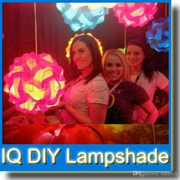 Wholesale Hang Lights Ceiling - IQ Lamp Puzzle DIY Lampshade Lights for Christmas House Hanging Decoration Ceiling Lamp