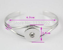 Wholesale Paracord Metal - paracord bracelet 6pcs lot New Design fation Women Men Single Metal Snap Button Charm Bangle Bracelet Fit For 18mm Ginger Snap Jewelry
