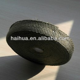 Wholesale Exhaust Insulating - 15m Titanium Heatwrap Top Quality High Temp Exhaust Manifold Downpipe Insulating Tape Thermal Turbo Wrap + 5 FREE 304 SS Tie Kit M23320