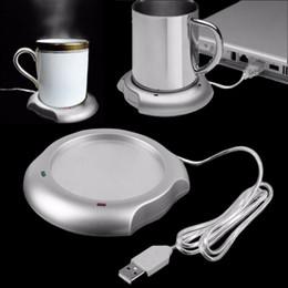 Wholesale Mug Heating Pad - Wholesale- 2017 USB Insulation Coaster Heater Heat Insulation electric multifunction Coffee Cup Mug Mat Pad Brand New