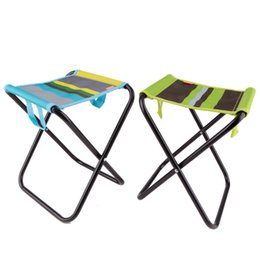 Wholesale Stainless Steel Fishing Chair - Wholesale-YODO folding chair for fishing cadeira metal stool beach camping gauze chair foldable chairs outdoor furniture stainless steel