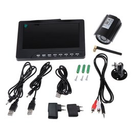 """Wholesale Long Range Wireless Cameras System - Digital Wireless DVR Recorder and Long Range Night Vision CCTV Camera Security Camera System 7"""" LCD Monitor with SD Card"""