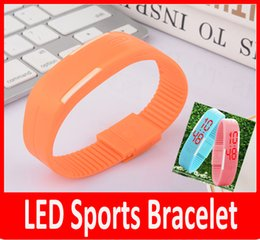 Wholesale Kids Unisex Silicone Strap Watches - New Mens Womens Rubber Red LED Watch Date Sports Bracelet Digital Wrist Watch Candy Silicone Strap Touch Watch Kids watches.