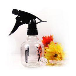 Envío gratis 300 ml aerosol botella spray para el cabello de plástico transparente peluquería rociador de agua Transparente plantación de flores herramienta del salón de pelo desde fabricantes
