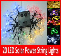 Wholesale Christmas Solar Lights Sale - Hot Sale Free Shipping 4.8m 20 LED Solar String Lights multicolor Lamp Outdoor waterproof Garden rode building Xmas Decoration