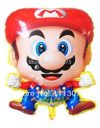 Wholesale Mario Helium Balloons - 50pieces lot Super Mario Film game balloons,ballons cartoons,The Kids Helium Balloons balloon party