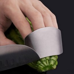 Wholesale Metal Finger Guard Protector - 2015 new hot Stainless Steel Metal Finger Guard Protector Kitchen Knife Chop Cook Cut free shipping