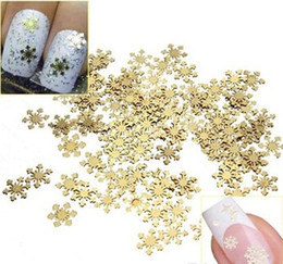 Wholesale Nail Art 3d Stickers Decals - Wholesale-Nail Rhinestones 1000Pcs Golden 3D Metal Sticker Decal Manicure Tool Nail Art Phone Decoration Free Shipping