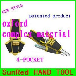 Wholesale Taiwan Tool Brands - SunRed BESTIR taiwan made brand new oxford composite material 4-pocket bag for tools NO.05143 wholesale and retail