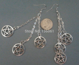 Diy chandelier earrings coupons promo codes deals 2018 get diy chandelier earrings coupons 20 pair vintage silver wiccan pentagram charms long chain drop chandelier aloadofball Choice Image