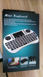Mini jogo handheld sem fio teclado rii i8 voar air mouse teclados multi-touch touchpad controle remoto pc para android tv box m8s mxq de