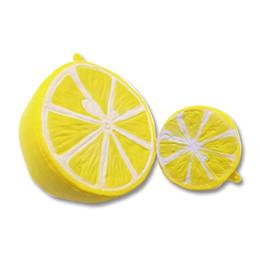 Wholesale Fruit Ornaments - Half lemon squishy slow rebound Pu simulation fruit cell phone knapsack ornament pendant lovable extrusion toy