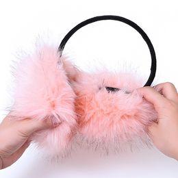 Wholesale Black Fox Earmuffs - Wholesale-Folding imitation mink earmuffs Korean cute imitation mink earmuffs imitation fox fur earmuffs ear foldable bag