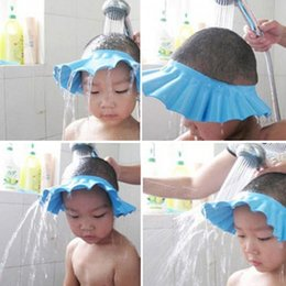 Wholesale Baby Shampoo Shield - New Adjustable Baby Hat Toddler Kids Shampoo Bath Bathing Shower Cap Wash Hair Shield Direct Caps For Children Care