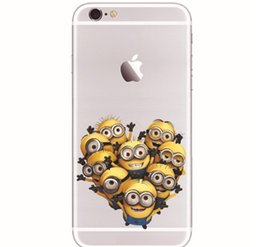 Wholesale Despicable Casing - 10pcs 3D Cartoon Cute Despicable Me Minions Case Creative Colored Drawing Cases Soft TPU Back Cover For iphone 5 5s 6 4.7inch 6 plus XY27