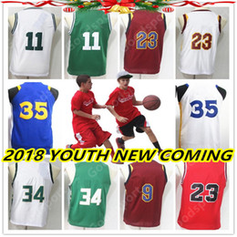 Wholesale Kids Sports - YOUTH 18 NEW VERSION Stitched jerseys Sport Jersey GIFT KID IRVING DURANT JAMES ANTETOKOUNMPO GEORGE WADE MICHAEL HOT
