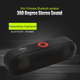 Wholesale Mobile Phone Music Speakers - Portable Bluetooth Speaker Mini Stereo Wireless Speakers Support TF Card AUX Computer Music Player Free Shipping
