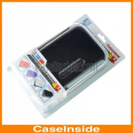 Wholesale Games For 3ds - New Fashion Game Pouch Soft Leather Bag Carry Case Bag Pouch With Cleaning Cloth For 3DS XL LL