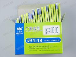 ph kit de tiras reactivas litmus Rebajas 400 set / lote Envío Gratis 1 Unidades 80 tiras de PH papel de prueba Prueba de pH del agua gama completa PH 1-14 Tira de tornasol Kit de Pruebas