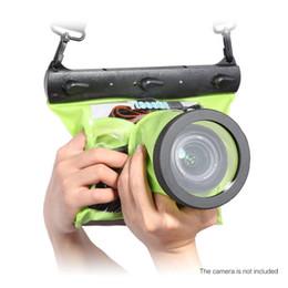 Wholesale Dslr Housing - Tteoobl GQ-518M Waterproof Underwater Diving Camera Housing Case Pouch Dry Bag for Canon Nikon DSLR SLR