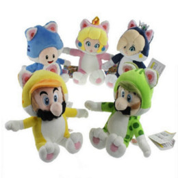 "Wholesale Toad Doll - 2016 Hot Sales Brand Free Shipping ree Shipping Super Mario 3D World Plush Toy Doll by Mario&luigi&toad&peach&Rosalina 7.5""-9"""