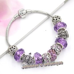Wholesale Crown Charms 3d - 5 Colors New Arrival DIY Interchangeable European Charms European Style Purple Style 3D Crown Bracelets jewelry holesaler Bijoux Pulsera