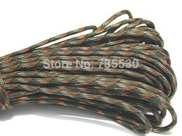 Wholesale Camouflage Paracord - Wholesale-Army Green Camouflage Outdoor Survival Paracord 550 Parachute Cord Lanyard Rope 100FT 31M FREE SHIPPING PC04