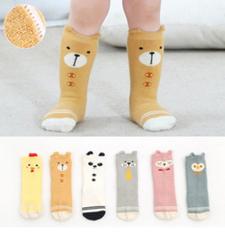 Wholesale Warm Chicken - Infant cartoon stockings baby cute owl panda chicken bear dog cat 3 4 knee high stockings winter toddler kids thicken warmer legs R1064