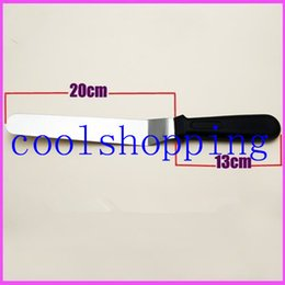 Wholesale Sword Cake - DHL Freeshipping Stainless steel handle 8 inch curved KNIFE rubber sword kiss cake baked cake mould tool offset spatula