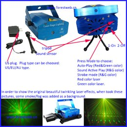 Wholesale Dhl Dj Laser - DHL EMS free shipping High quality mini laser light party light holiday dj light lazer luz christmas decoration new year decoraiton light