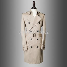 Wholesale Cheap Male Trench Coats - Fall- casual brand cheap men winter trench manteau homme pea coat overcoat jacket male windbreaker parka casaco masculino 759