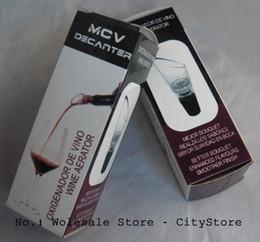 Wholesale Wine Aerator Stopper Pourer - Wholesale 50pcs lot MCV Wine Aerator Wine Decanter Pour Spout Bottle Stopper Decanter Pourer Aerating (Retail box package) 1103#03