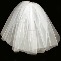 Pas cher Image réelle Stock 1 Couche Blanc Ivoire Peigne De Mariage Voiles Pour Robes De Mariée Robes Nuptiale Accessoires Simple Voile De Mariée ? partir de fabricateur