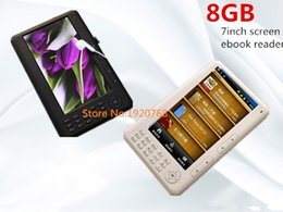 Wholesale Ebook Ereader - Wholesale-Free shipping Qinkar 7inch screen ebook reader 8GB PDF e book mp3 video Recording TF Card slot Calendar Multi-Language ereader