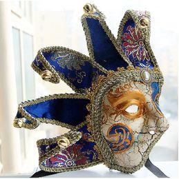 Wholesale dance costumes male - New Luxury Man Male Half Face Venice Scene Venetian Masquerade Mask Halloween Mardi Gras Costume Ball Dance Party MASKS