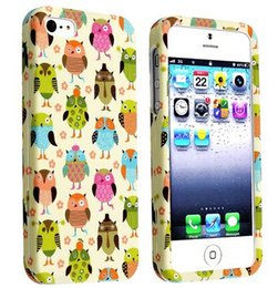 Wholesale Owl Phone Covers - Wholesale Cute Multiple Owl Design Hard Plastic Mobile Phone Case Cover For iPhone 4 4S 5 5S 5C 6 6plus