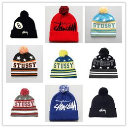 Wholesale American Skiing - 2018 New Arrival Beanies Hats American Football stussys Beanies Sports winter side line knit caps Beanie Knitted Hats Accept Drop Shippping
